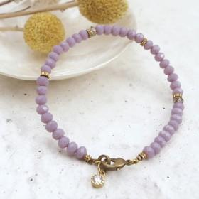綻放永恆-微光水晶珠手環(優雅紫)