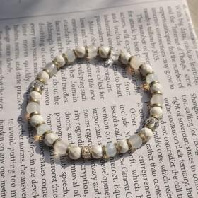 赫赫小建築-白色大理石紋手環