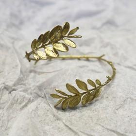 春分新生-盛開雙葉環抱手環