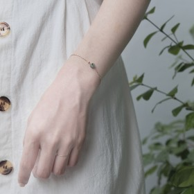 人魚的信物-海神信物黑貝石寶石手鍊