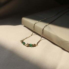 典藏傳承-女人韻味祖母綠石項鍊