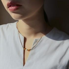 典藏傳承-女人韻味棕色瞳孔項鍊