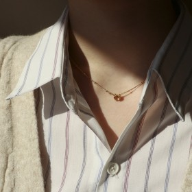 典藏傳承-女人棕色瞳孔寶石項鍊