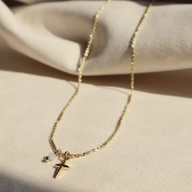 愛的信物-守護誓言水晶(鍍18K金)項鍊