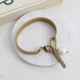 心心相繫-甜蜜的枷鎖黃銅手環