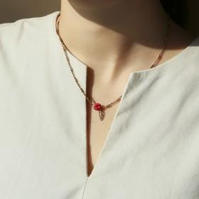輕旅行-女人心項鍊 (紅)