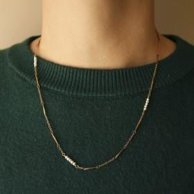 古典鏤空-蕾絲花邊珍珠項鍊