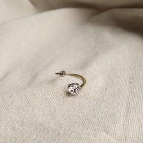 古典鏤空-環繞圓鋯石戒指