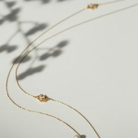 聖托里尼-荷魯斯之眼珍珠長項鍊(雙)
